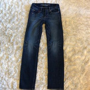 American Eagle Straight Super Stretch Jeans Size 0